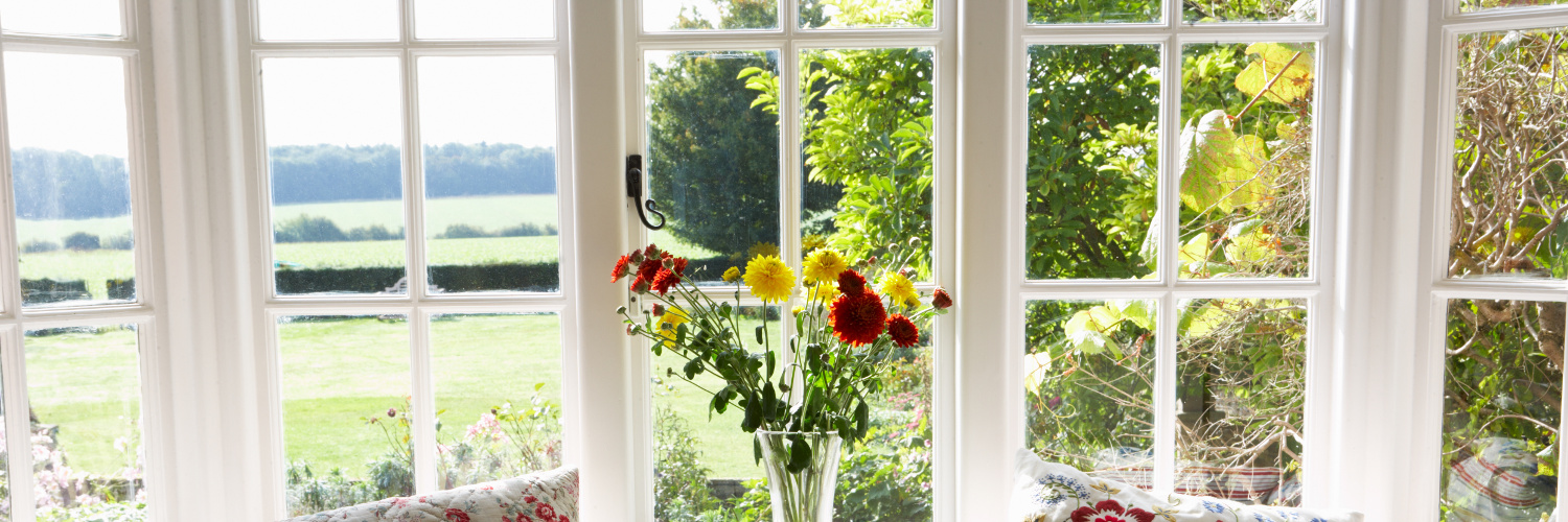 Double glazing in country home