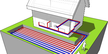 how does a ground source heat pump work